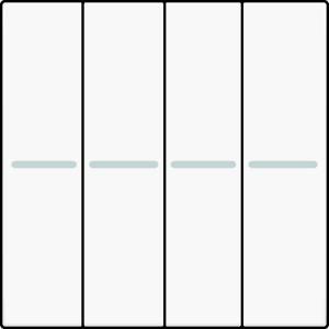 4-fach Wippe blank 45x45 Verkehrsweiß