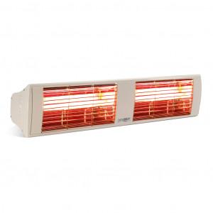 Infrarot Strahler 2 x 2,0 kW weiß