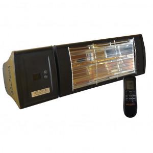 Infrarot Strahler 1 x 2,0 kW schwarz mit integriertem Funkdimmer